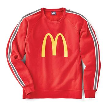 Picture of Unisex Arches Red Crewneck Sweatshirt With Stripe