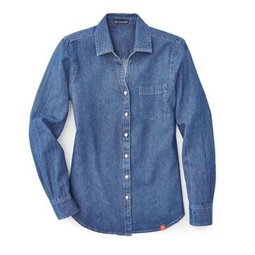 Picture of Ladies' Denim Long Sleeve Button Down