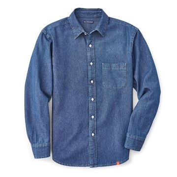 Picture of Mens' Denim Long Sleeve Button Down