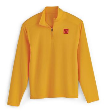 Picture of Mens' Gold Quarter Zip Pullover